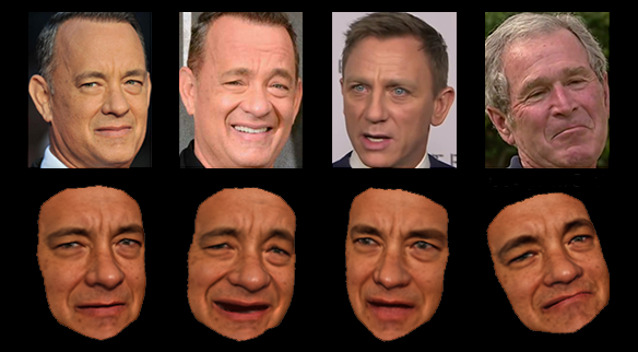 Digital models of Tom Hanks