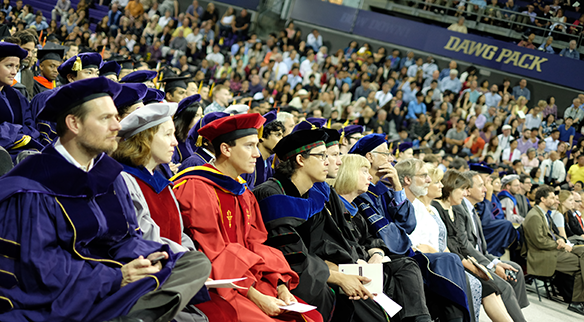 UW CSE 2015 graduation at Hec Ed Pavilion