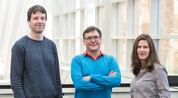 Researchers Georg Seelig, Luis Ceze, Karin Strauss