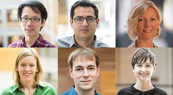 NSF CAREER Award winners Alvin Cheung, Ali Farhadi, Katharina Reinecke, Franziska Roesner, Thomas Rothvoss, and Emina Torlak