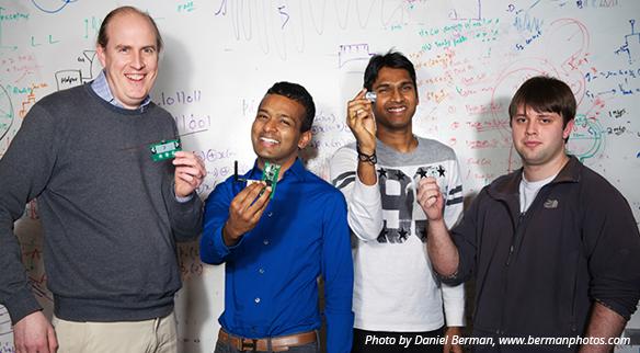 The Passive Wi-Fi team: Joshua Smith, Shyam Gollakota, Vamsi Talla and Bryce Kellogg
