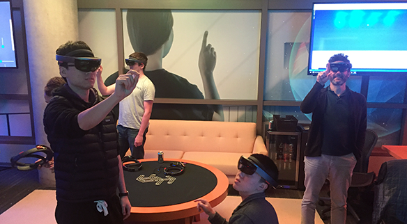 Students and faculty prepare for virtual and augmented reality capstone demo
