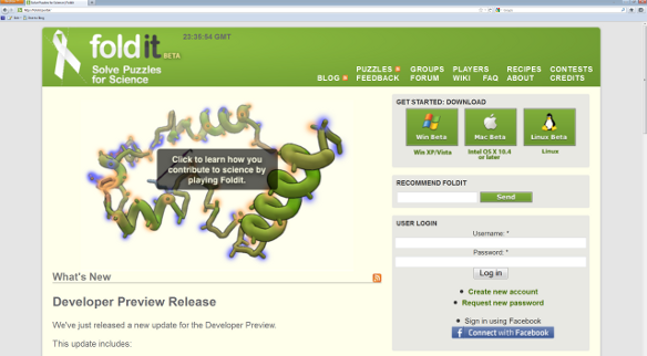Screenshot of Foldit