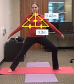 Kyle Rector demonstrates eye-free yoga