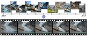 graphic illustrating time time-lapsing mining from Internet photos